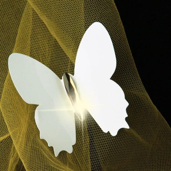 Zestaw 12 naklejek 3D Fanastick Diamond White Butterflies