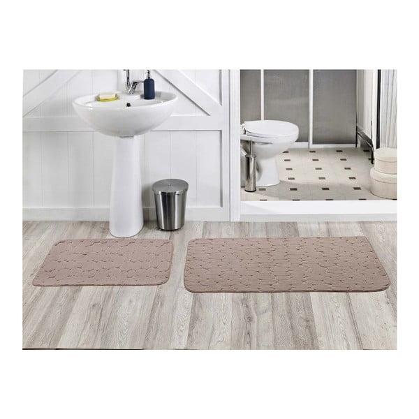 Zestaw 2 dywaników łazienkowych Milas Vizon, 50x60 cm + 60x100 cm