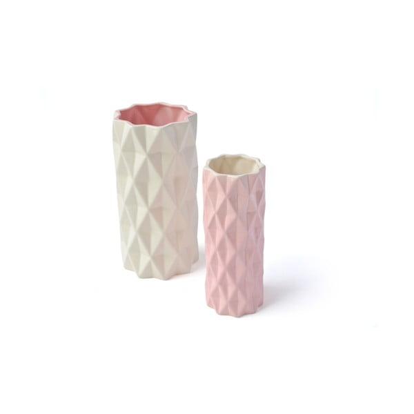 Różowy wazon Hawke&Thorn, wys. 19 cm