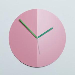 Zegar ścienny Mountain Fold, różowy