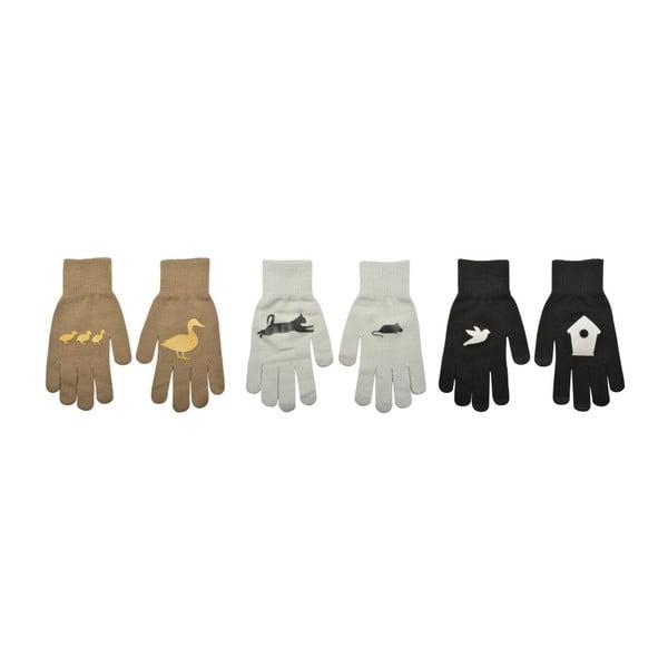Zestaw 3 par rękawic dotykowych Esschert Design