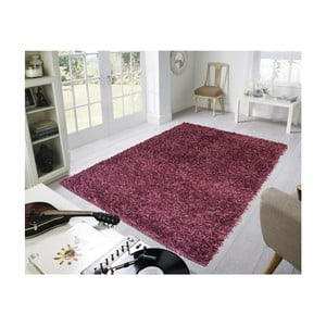 Bordowy dywan Webtappeti Shaggy, 60x100cm