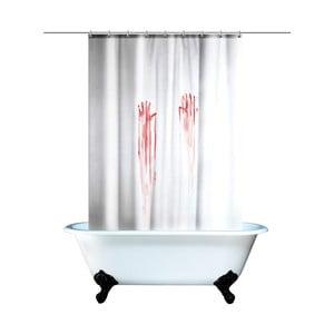 Zakrwawiona zasłona łazienkowa