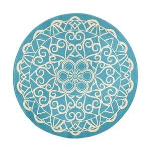 Niebieski okrągły dywan Zala Living Capri, ø 140 cm