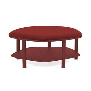 Czerwony taboret z drewna jesionowego Harto Abel, ⌀84cm