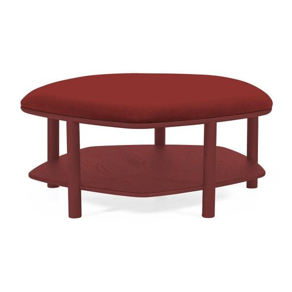 Czerwony taboret z drewna jesionowego HARTÔ Abel, ⌀ 84 cm