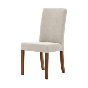 Kremowe krzesło z ciemnobrązowymi nogami Ted Lapidus Maison Tonka