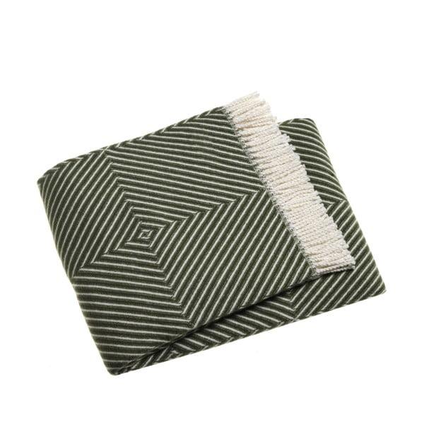 Zielony koc z dodatkiem bawełny Euromant Tebas, 140x180cm