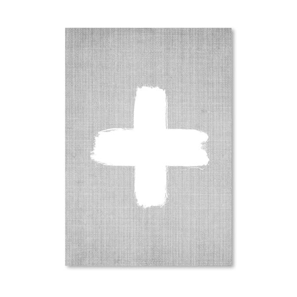 Plakat Cross On Grey