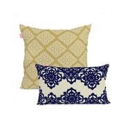 Zestaw 2 bawełnianych poszewek na poduszki Happy Friday Embroidery