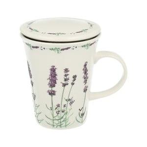 Kubek porcelanowy z sitkiem Duo Gift Lavender, 250 ml