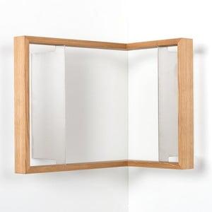 Narożna półka na książki z drewna dębowego das kleine b b3, 50x35x34 cm