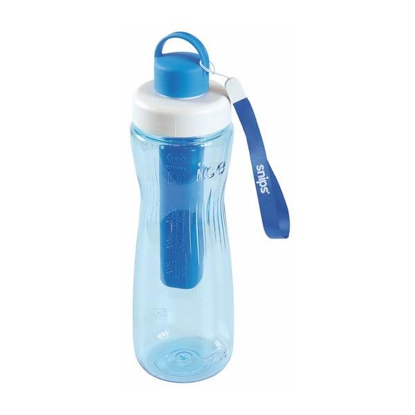 Niebieska butelka na wodę z wkładem chłodzącym Snips Cooling, 750 ml