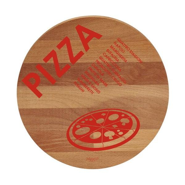 Deska do krojenia z drewna bukowego Bisetti Pizza, ø 30 cm