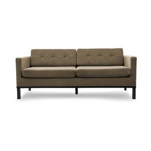 Sofa trzyosobowa VIVONITA Jonan Light Brown, czarne nogi