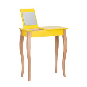 Żółta toaletka z lustrem Ragaba Dressing Table, dł. 65 cm