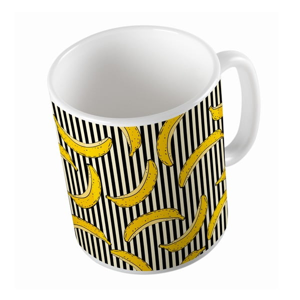 Kubek ceramiczny Banana in Stripes, 330 ml