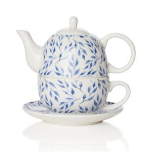 Dzbanek do herbaty z filiżanką z porcelany kostnej Sabichi Beatrice