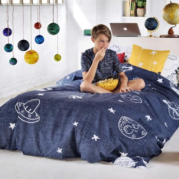 Zestaw poszwy na kołdrę i poduszki z nadrukiem Baleno Starspace, 140x200 cm