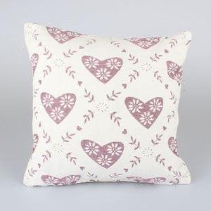 Poszewka na poduszkę z różowymi serduszkami Dakls