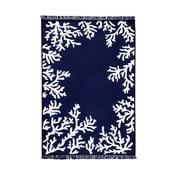 Niebiesko-biały dywan dwustronny Coral, 80x150 cm