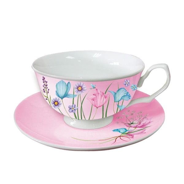 Komplet 2 filiżanek na cappuccino Pink Cups