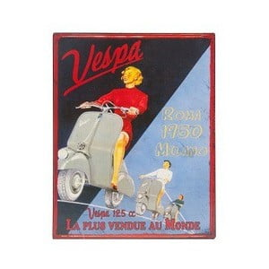 Tablica metalowa Vespa, 28x22 cm