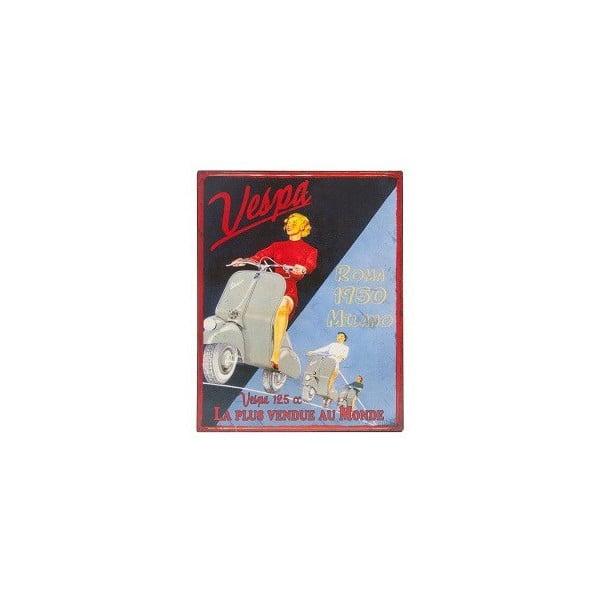 Tablica metalowa Vespa, 28x22 cm