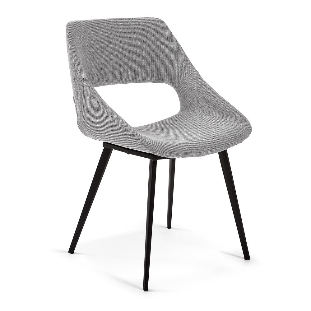 Jasnoszare krzesło do jadalni La Forma Hest