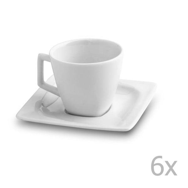 Zestaw 6 filiżanek z podstawkami Carlotta, 80 ml