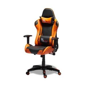 Czarno-pomarańczowe krzesło biurowe Knuds Gaming