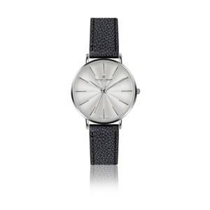 Zegarek damski z czarnym paskiem skórzanym Frederic Graff Silver Monte Rosa Lychee Black Leather
