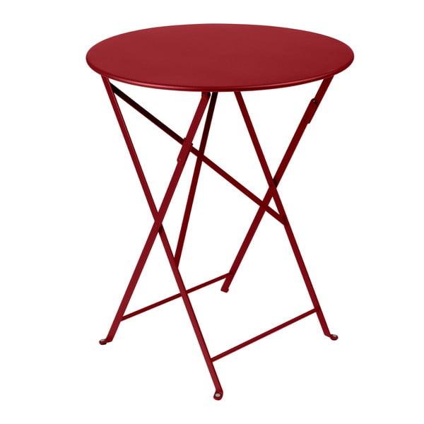Makowy składany stół metalowy Fermob Bistro