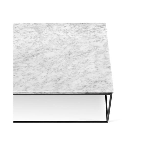 Biały stolik marmurowy z czarnymi nogami TemaHome Gleam, 120 cm