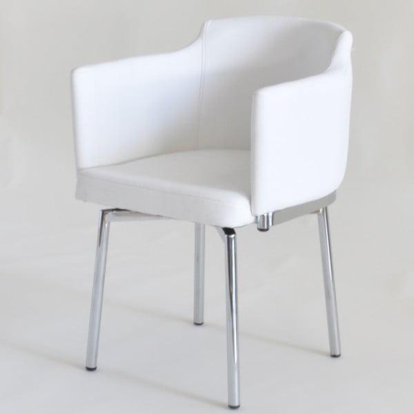 Zestaw 2 krzeseł obrotowych Detroit, białe