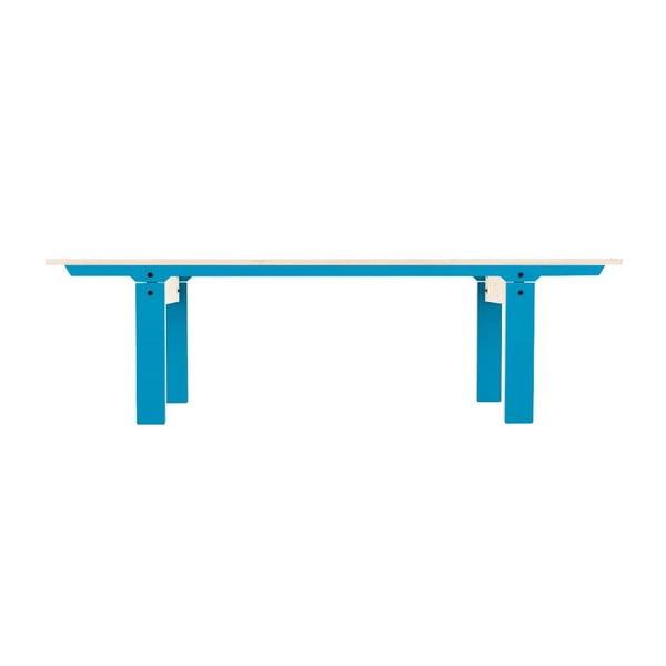 Niebieska ławka rform Slim 04, dł. 165 cm