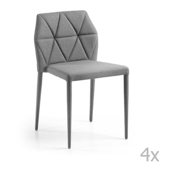 Zestaw 4 szarych krzeseł La Forma Gravite