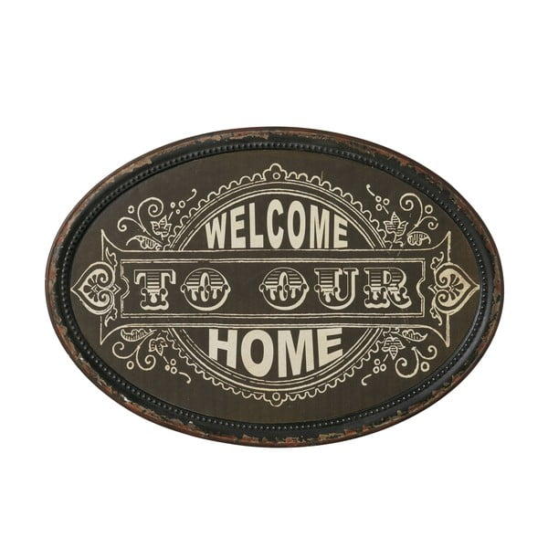 Tablica Welcome home, 50x35 cm