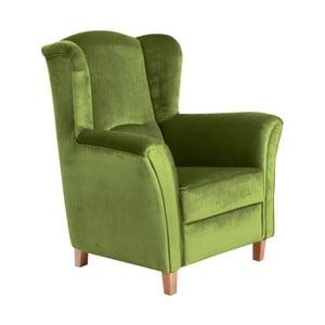Zielony fotel Max Winzer Agnetha Suede