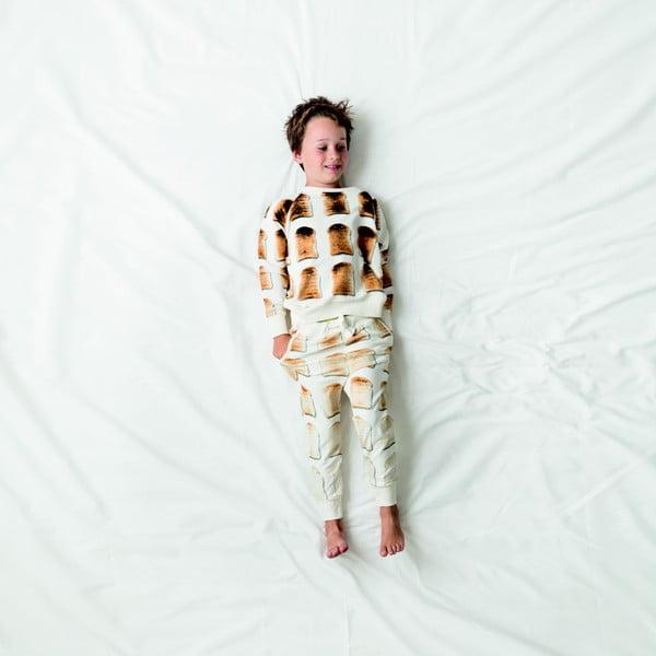 Biała bluza chłopięca Snurk Toast, 140