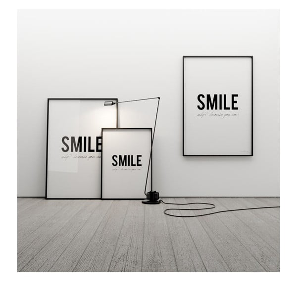Plakat Smile! Why? Because you can!, 50x70 cm