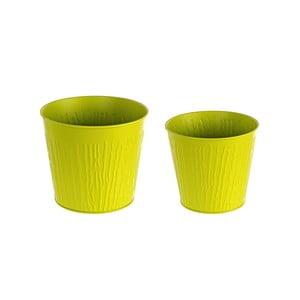 Zestaw 2 doniczek Corteccia, zelená