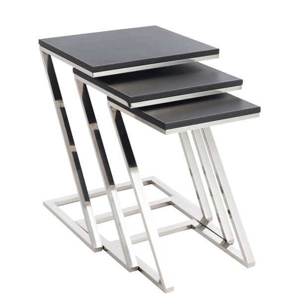Zestaw 3 stołków do układania w stos J-Line