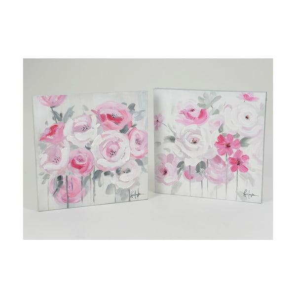 Obrazy Floral Roses 50x50 cm, 2 szt.