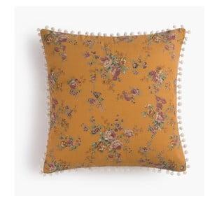 Poszewka na poduszkę Flores Mostaza, 45x45 cm