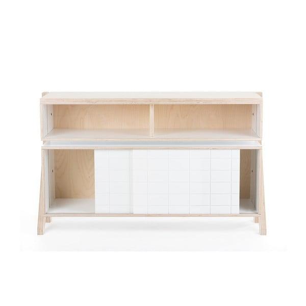 Biała wysoka komoda rform Frame