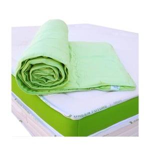 Zielona mata na materac z bambusowymi włóknami Nature Green Future, 90x200cm
