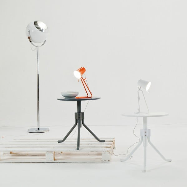Biała lampa stołowa Present Time Z Metal