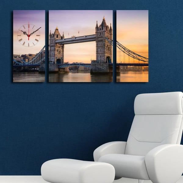 Obraz z zegarem London Bridge