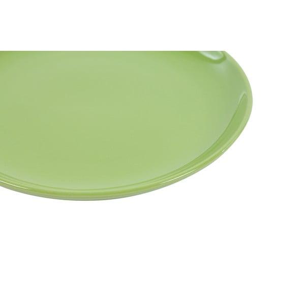 Zestaw 6 talerzy deserowych Kaleidoskop 21 cm, zielony